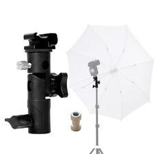 "NEW Flash Shoe Umbrella Holder Swivel Light Stand Bracket E with 1/4""-3/8"" Screw"
