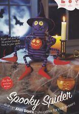 Spooky Spider, BYOB Halloween Alan Dart Knitting Pattern Build Ur Own Binder
