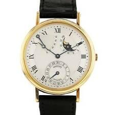 Breguet Classique 18k Yellow Gold Power Reserve Moon Automatic Mens Watch 3130