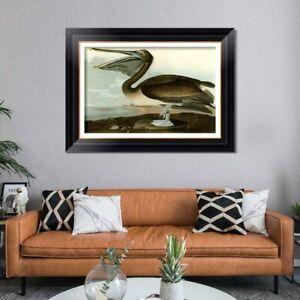 """28""""x40""""Framed Canvas Art Giclee Print Series#101 by John James Audubon Wall Art"""