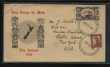 New  Zealand  nice cachet cover  to  US   1938       KEL0416