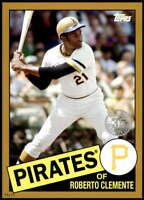 Roberto Clemente 2020 Topps 1985 35th Anniversary 5x7 Gold #85-81 /10 Pirates