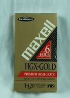 Maxell HGX-Gold PHG T-120 Blank VHS 6 Hr Tape Factory Sealed Lot of 3