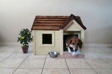 Dog House Plans, Operable Gable Roof Style with Porch. Instructions only