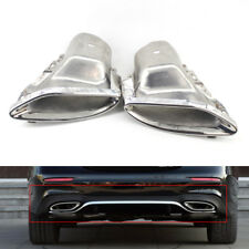 LR Exhaust Pipe Tips Fit For Mercedes-Benz E Class W212 W213 14+ Hatchback