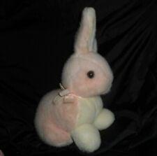 VINTAGE YANGJEE PINK & WHITE BABY BUNNY RABBIT STUFFED ANIMAL PLUSH TOY LOVEY