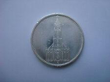 5 Reichsmark 1935 E Germany Hitler Silver Third Reich Nazi Swastika RARE