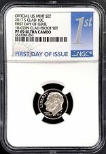 2017 S Proof Roosevelt Dime graded NGC PF 69 Ultra Cameo, First Day of Issue!