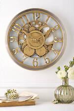 Reloj de pared Hometime oro análogo de de estilo vintage diseño COG pieza de tiempo