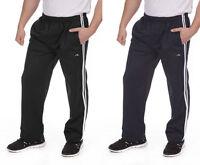 Mens Adults 2 Stripe Jog Pant Jogging Tracksuit Gym Bottoms Trousers Size M - 6X