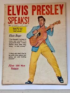 Rare Elvis  book Elvis Presley speaks 1956 estate find