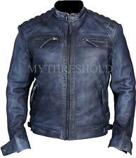 New Men's Genuine Lambskin Leather Jacket Biker jacket