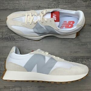 Men's New Balance 327 White Turtle Dove Size 13 Running Shoes MS337STB