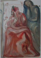 Salvador DALI : Purgatoire 31 Confession -  BOIS GRAVE original #DIVINE COMEDIE