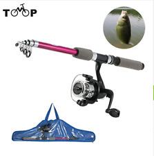 Stick Fishing Rod Carp Feeder Spinning Fishing Rod Set Reel With Kids' Fish Bag