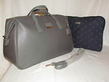 Tumi Sinclair Alexandra Grey Soft Duffel Bag Travel Satchel Carryon Luggage Tote