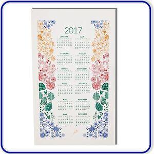 100% Cotton Kitchen Tea towel 2017 Calendar Christmas Gift Top Quality