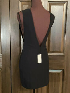NWT Anthony Vaccarello Black V Back Scuba Dress 36 S $1,099