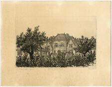 Original Print-LANDSCAPE-THE HAGUE-HEILIGE GEESTHOFJE-Minderman-ca. 1980
