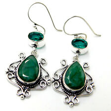 Emerald Chrome Diopside 925 Sterling Silver Plated Women's Jewelry Earring 9 Gm