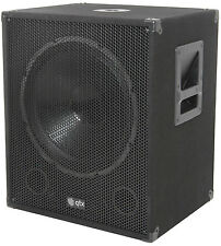 "QTX QT18SA 18"" 1000W Active Powered Subwoofer Bass Bin Speaker DJ Disco"
