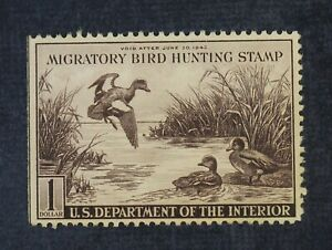CKStamps: US Federal Duck Stamps Collection Scott#RW9 $1 Unused NG
