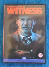 UNICO TESTIGO (WITNESS. Harrison Ford, McGillis) SUPER ÉXITO,DVD NUNCA VISIONADO