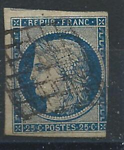 France N°4 Obl (FU) 1850 - Cérès 2éme république (ter)