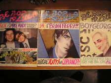 BE BOP A LULA anno 1 n° 1 2 3 rivista Simple Minds Boy George Bryan Ferry rock