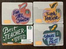"Canada Series Starbucks ""MINI APPLE SET 2019"" 4 Gift Cards - New No Value"