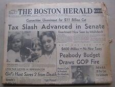 January 23, 1964 Boston Herald Newspaper - John Glenn,Judy Garland,Baseball HOF