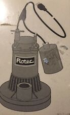 NEW Flotec FPS17-67 Sump Pump Float Switch / Power cord combo