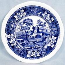 Copeland Spode Tower Bread & Butter Plate Blue Gadroon Older Mark Full Flower 6