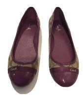 Coach ballet flats 8B Cecile Mulberry  (Purple) Q1834