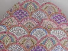 20 Yard Flower Hand Made Block Print Fabric Beautiful Indian 100% Cotton Fabric