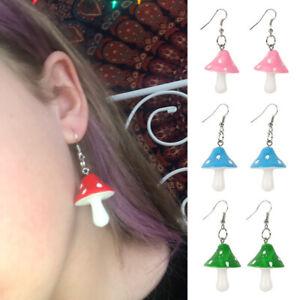 Women Cartoon Drop Earrings Jewelry Mushroom Earring Party Sweet Gift Wedding