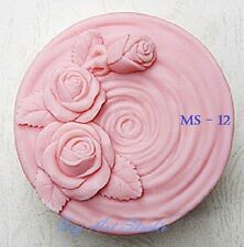Silicone Soap Mold/Candle Mold/Mould One Cavity - Round Rose Vortex