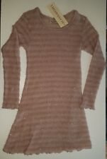 Alannah Hill Pink Frock Sz 6 Kid Mohair Shot though with Metalic Thread