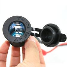 Blue LED Cigarette Lighter Power Socket Plug Outlet for Motorbike Car 12/24v