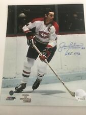 Jean Beliveau autographed Montreal Canadiens 8 x 10 photo with COA