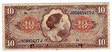 Etats UNIS d' AMERIQUE USA Billet 10 Dollars 1965 CERTIFICATE MILITAIRE PAYMENT