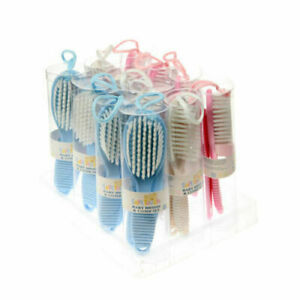 Baby Soft Hair Brush and Comb Set girl in baby pink, Trusted UK Seller
