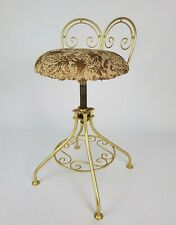 New listing Vintage French Swivel Vanity Stool Chair Seat Hollywood Regency Mid-Century