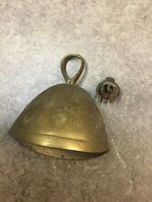 Lot of 2 Bronze Etched Claw Bells