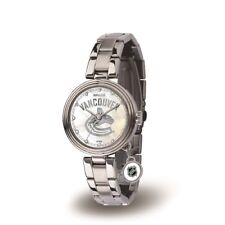 Vancouver Canucks NHL Charm Watch with Stainless Steel Band