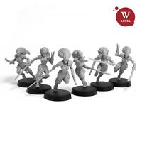 "28mm wargame and collectible miniature, Voidstalkers Squad by ""W"" Artel"
