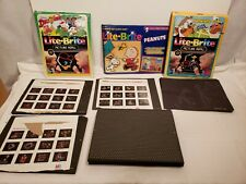 Vintage Lite Brite Character Paper Refills, Guide Sheets, Different Cartoons