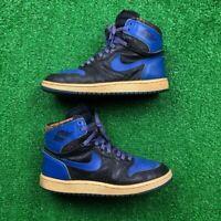 OG 1985 Nike Air Jordan 1 Royal Black Blue Rare Vintage 85 Chicago 7.5 Bred