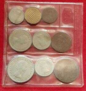 1953 ELIZABETH CORONATION UNCIRCULATED 9 COIN SET (B) FARTHING-HALFCROWN