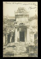 Asia Cambodia ANGKOR Ruins 1903 mailed from Saigon u/b RP PPC